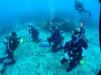 Instructor Internships underwater training