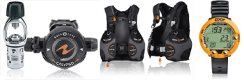 IDC instructor dive master equipment package