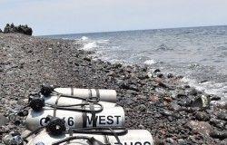 diving equipment beach