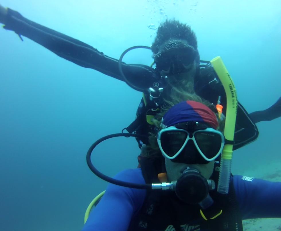 Drift diving in Bali