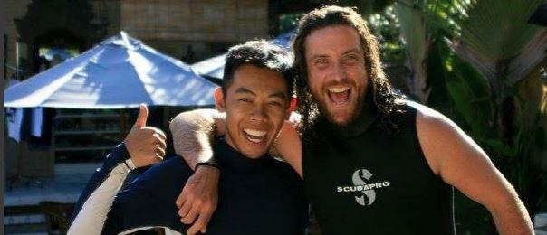 PADI Diving instructor candidate at blue season
