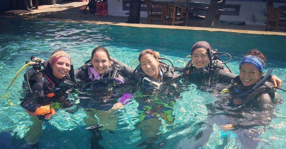 PADI Instructor Candidate at pool session