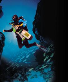 unconscious diver underwater