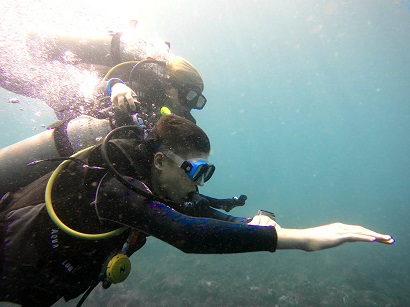 underwater navigation in Bali