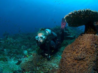 divemaster at seabed