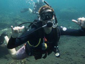 diver having fun