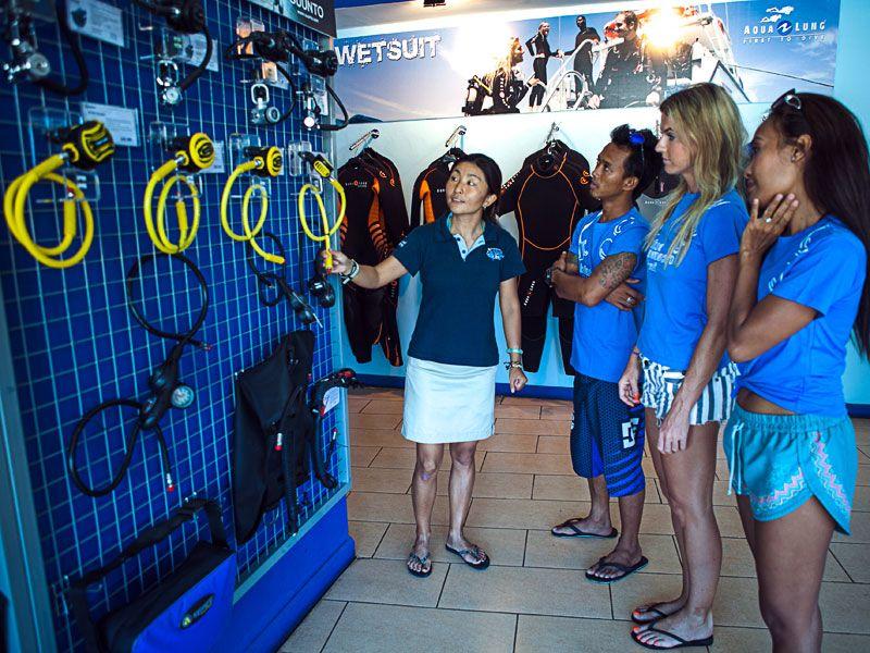 scuba diving equipment courses