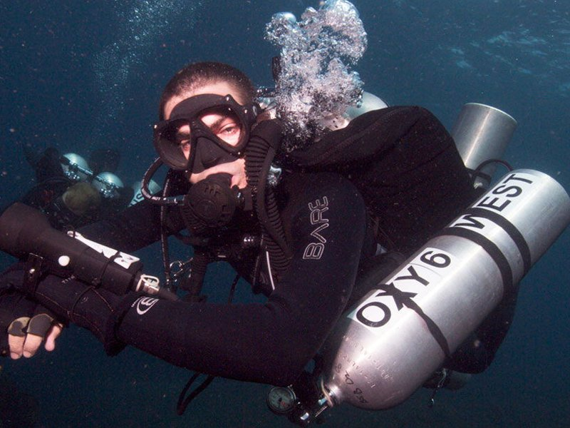 fully equipped diver