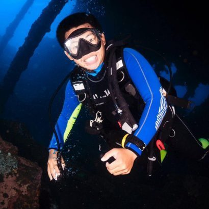 Dino professional diving in Bali