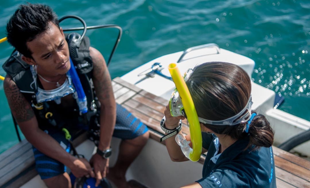LEARNING-PACE as scuba diving instructor