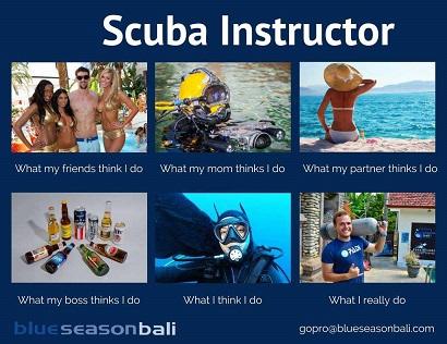 Dive professional in Bali