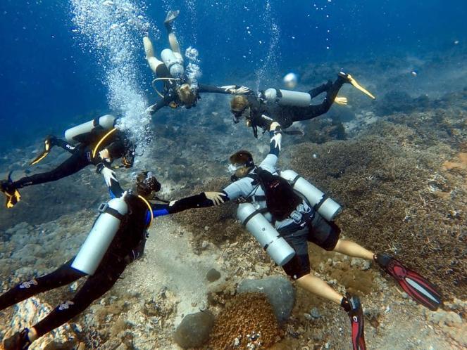 Underwater Scuba Diving Group