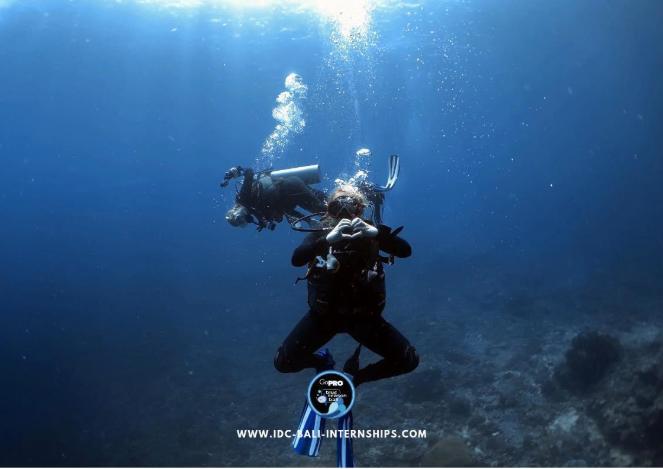 Underwater scuba diving heart